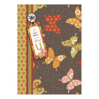 Mariposas retras B TY Notecard Plantilla De Tarjeta De Visita