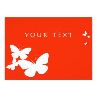 mariposas retras invitación 12,7 x 17,8 cm