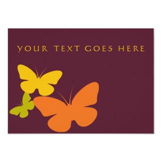 mariposas retras invitación 11,4 x 15,8 cm
