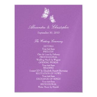 Mariposas violetas simples que casan programa comunicado