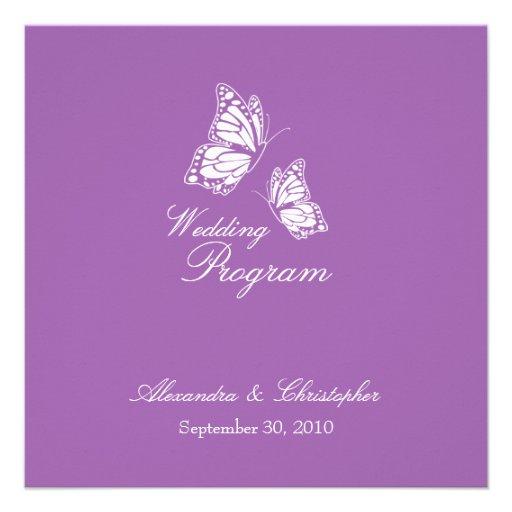 Mariposas violetas simples que casan programa anuncio personalizado