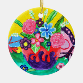 Mariposas y ornamento de las mariquitas ornamento de navidad