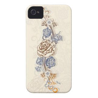Mariposas y rosas funda para iPhone 4 de Case-Mate