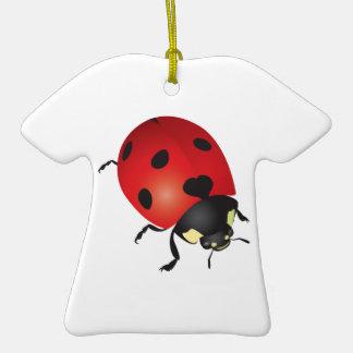 Mariquita Adorno De Cerámica En Forma De Camiseta
