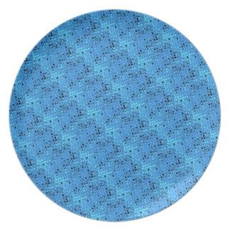 Mariquita azul femenina metálica brillante del dia platos
