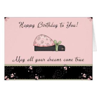 Mariquita del cumpleaños tarjeta pequeña