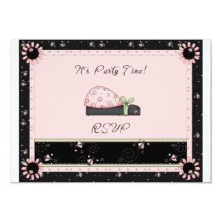 Mariquita del tiempo del fiesta invitación 12,7 x 17,8 cm