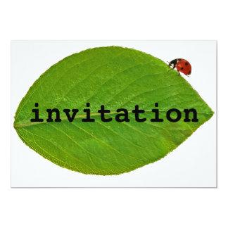 Mariquita Invitación 12,7 X 17,8 Cm