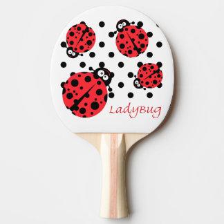 Mariquita linda pala de ping pong