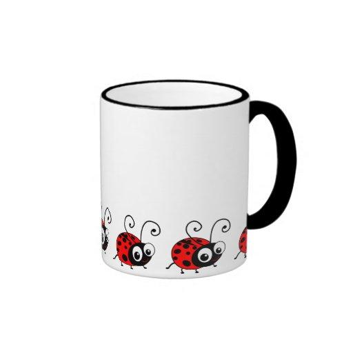 Mariquita linda taza