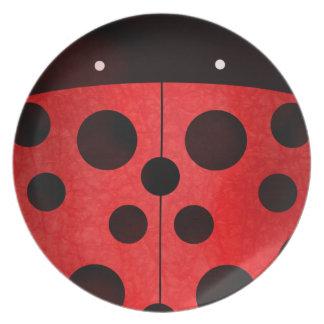Mariquita - placa plato para fiesta