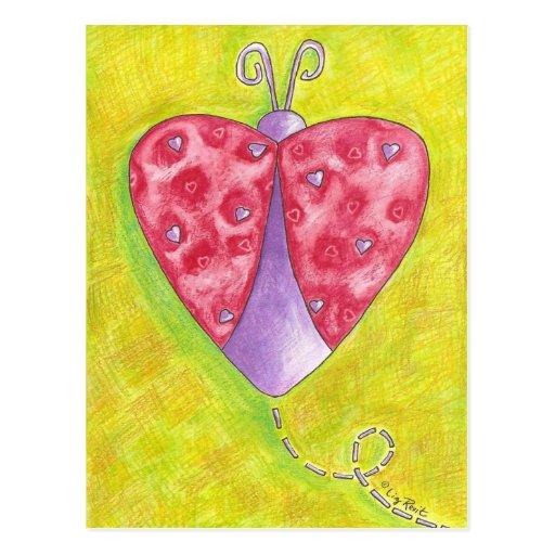 Mariquita preciosa tarjetas postales
