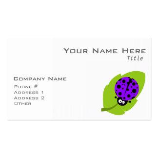 Mariquita púrpura violeta tarjeta de visita