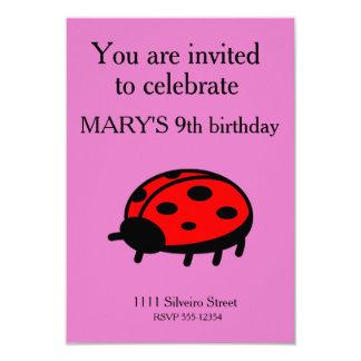 Mariquita roja invitación 8,9 x 12,7 cm