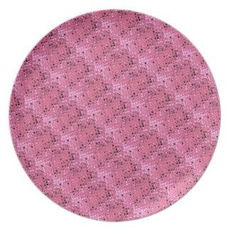 Mariquita rosada femenina metálica brillante 2 des plato