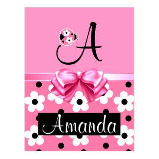 Mariquita rosada: Personalice Postal