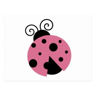 Mariquita rosada postal