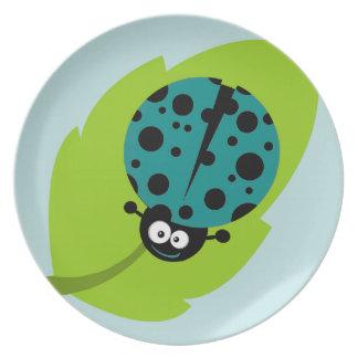 Mariquita verde del trullo platos de comidas