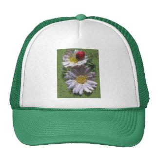 Mariquita y margaritas gorra