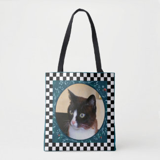 Mariquitas de observación del Gatito-Gato curioso Bolsa De Tela