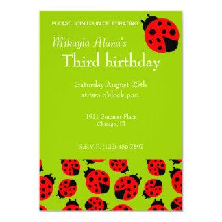 Mariquitas lindas invitación 12,7 x 17,8 cm
