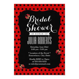 Mariquitas lindas negras y ducha nupcial de los invitación 12,7 x 17,8 cm