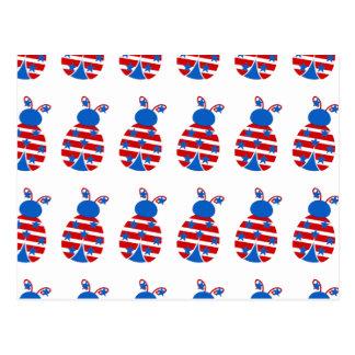 Mariquitas patrióticas postal