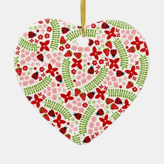 Mariquitas preciosas ornamento de navidad
