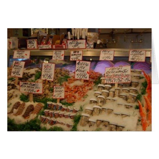 mariscos frescos tarjeta de felicitación