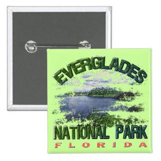 Marismas parque nacional, la Florida Chapa Cuadrada 5 Cm