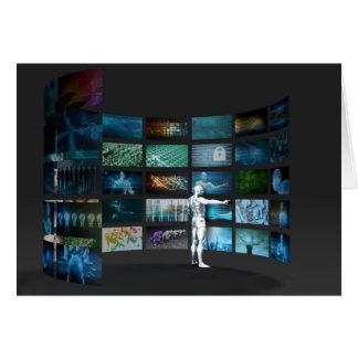 Márketing video a través de los canales múltiples tarjeta pequeña