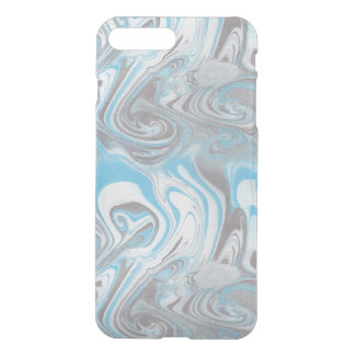 Mármol azul y negro funda para iPhone 7 plus
