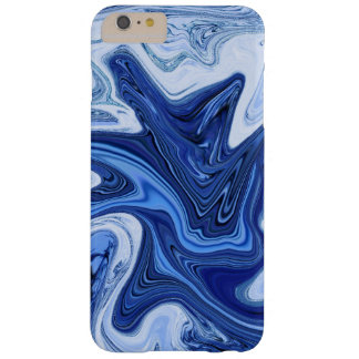 Mármol blanco azul de la aguamarina de los funda barely there iPhone 6 plus