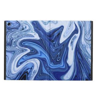 Mármol blanco azul de la aguamarina de los funda para iPad air