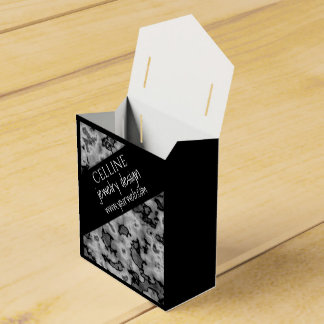 Mármol blanco negro profesional lindo caja de regalos