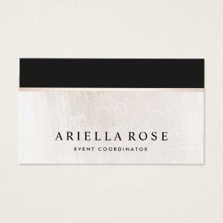 Mármol blanco y negro elegante de lujo tarjeta de visita