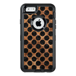 MÁRMOL CIRCLES2 Y BROWN NEGROS (R) DE PIEDRA FUNDA OtterBox DEFENDER PARA iPhone 6
