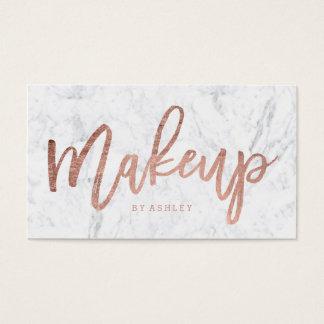 Mármol color de rosa elegante de la tipografía del tarjeta de negocios