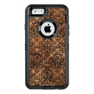 MÁRMOL DAMASK1 Y BROWN NEGROS (R) DE PIEDRA FUNDA OtterBox DEFENDER PARA iPhone 6
