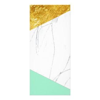 Mármol del trullo del oro blanco diseño de tarjeta publicitaria
