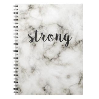 Mármol fuerte cuaderno