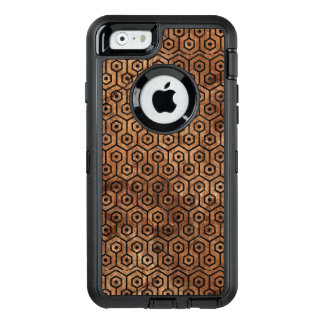 MÁRMOL HEXAGON1 Y BROWN NEGROS (R) DE PIEDRA FUNDA OtterBox DEFENDER PARA iPhone 6