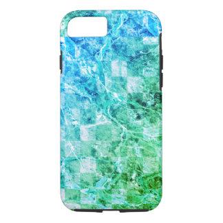 Mármol moderno brillante del verde azul del mar funda iPhone 7