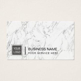 Mármol moderno del logotipo de encargo corporativo tarjeta de negocios