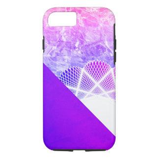 Mármol moderno púrpura de la lavanda blanca del funda iPhone 7