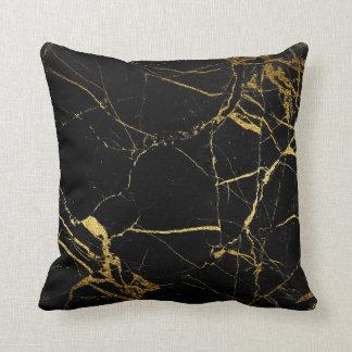 Mármol negro del oro - almohada de tiro