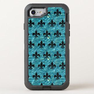 MÁRMOL NEGRO ROYAL1 Y AGUA AZULVERDE FUNDA OtterBox DEFENDER PARA iPhone 8/7