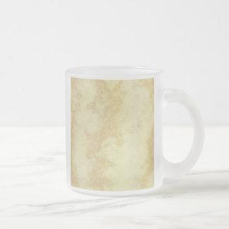 Mármol o granito texturizado taza de cristal
