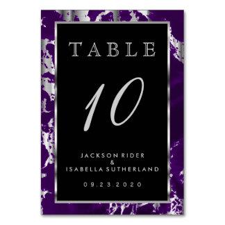 Mármol púrpura y de plata del ciruelo - número de tarjeta