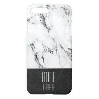 Mármol y cuero elegantes funda para iPhone 8 plus/7 plus